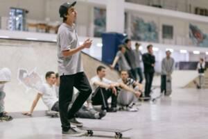 Тренировка по скейтбордингу